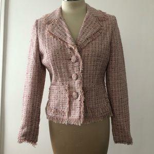 Thalia Sodi pink frayed edge blazer Sz M